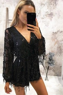 Star Jumpsuit - Black